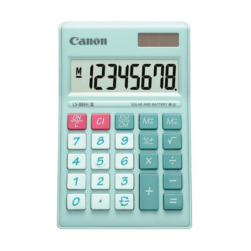 Canon Mini Desktop LS 88 HI III-PGR ASA HB 8 Digit Hijau Pastel Kalkulator