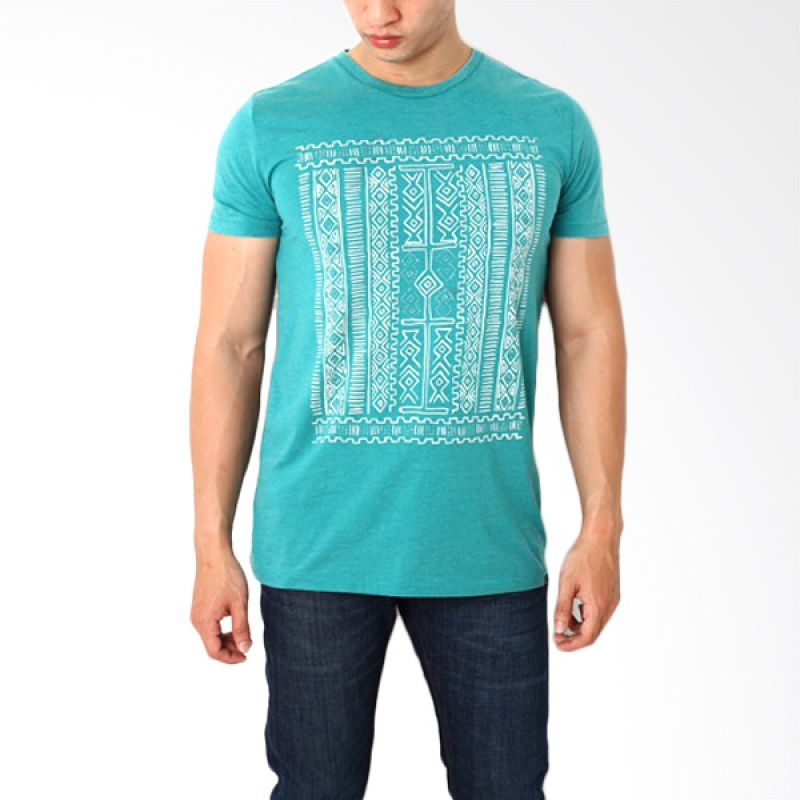 Globe To 77 Sea Blue T-Shirt Pria