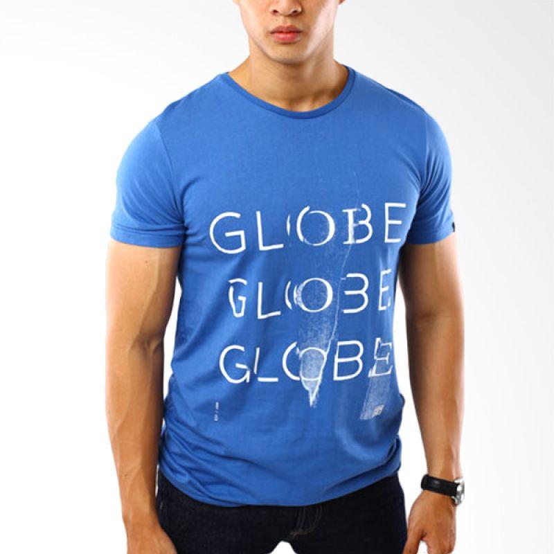 Globe To 8 Biru T-Shirt Pria