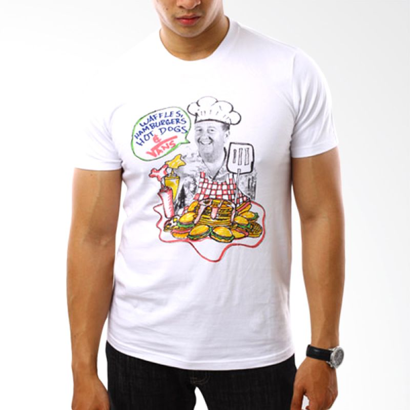 Vans To 51 Cartoon Putih T-Shirt Pria