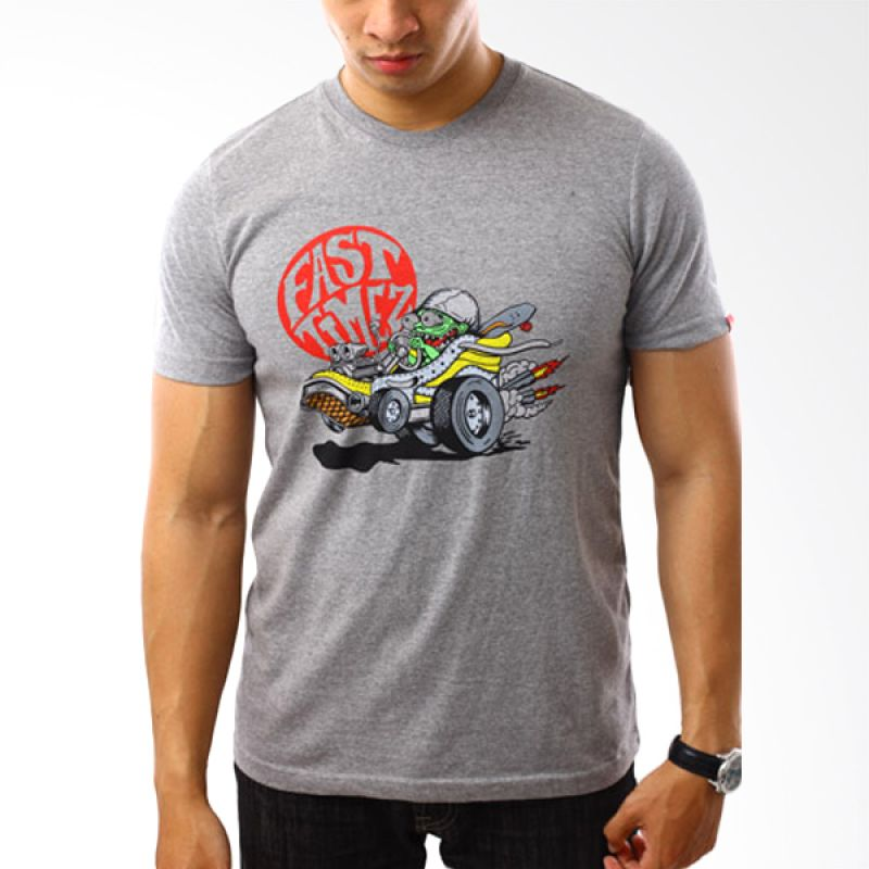 Vans To 63 Cartoon Abu-abu T-Shirt Pria