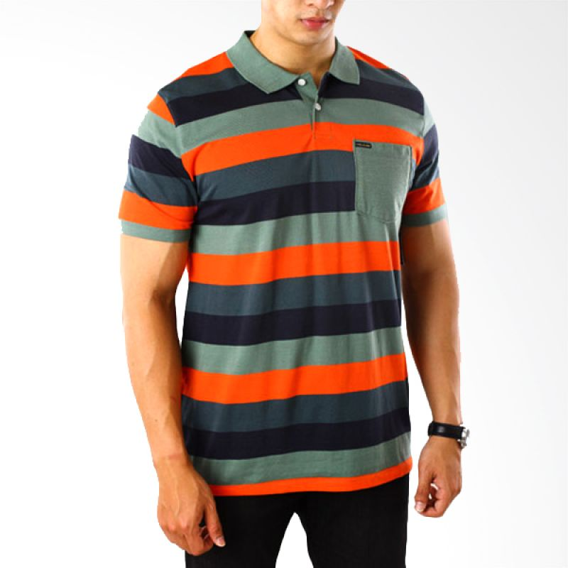 Volcom Multicolor Orange Polo Shirt