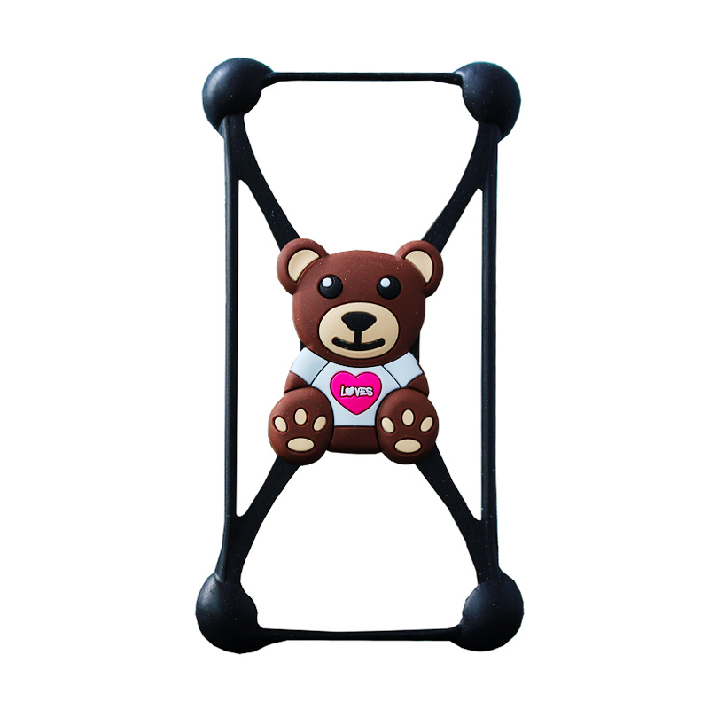 Rubber Bear Bumper Casing for Smartphone - Chocolate