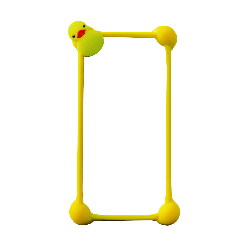 Rubber Duck Bumper Casing for Smartphone - Yellow