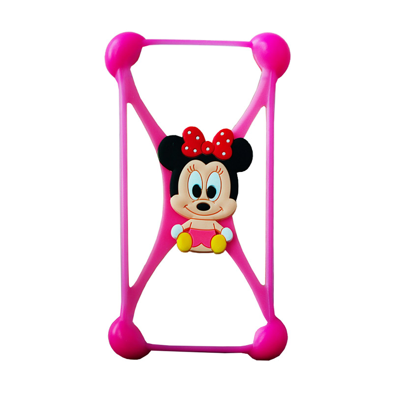 Rubber Mimi Bumper Casing for Smartphone - Pink