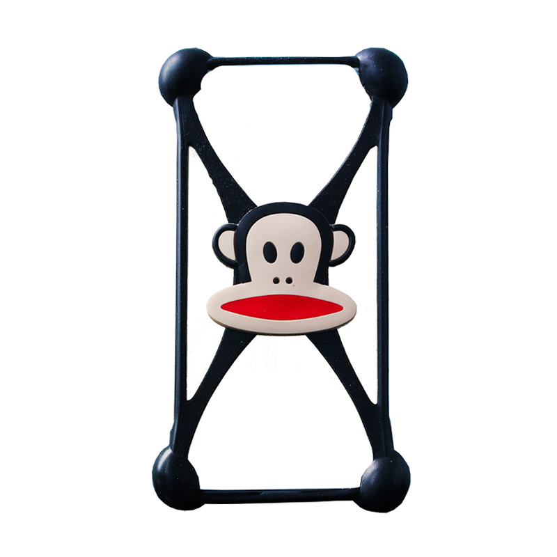 Rubber Monkey Bumper Casing for Smartphone - Black