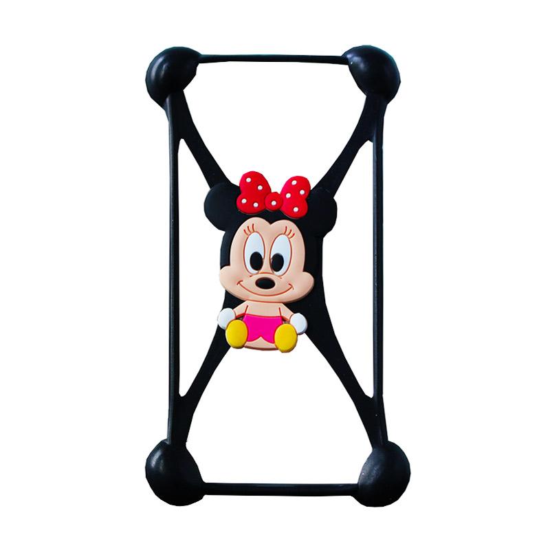 Rubber Mouse Bumper Casing for Smartphone - Black