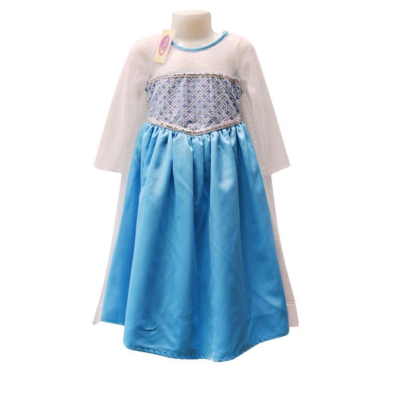Rumah Voila Batik Jubah Elsa Frozen Biru Muda Dress Anak