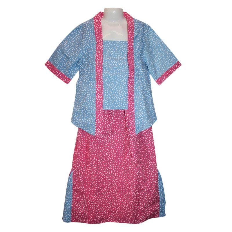harga Rumah Voila Kebaya Tanggung Blue Pink Setelan Anak Perempuan Blibli.com
