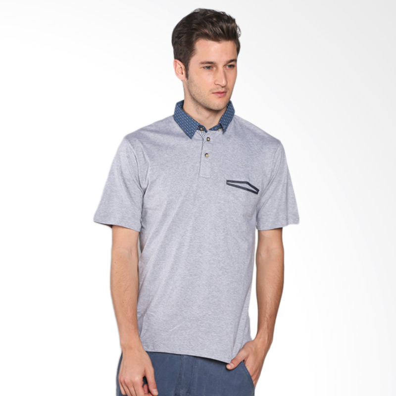 Russ Buena 12051614020 Polo Shirt - Grey Extra diskon 7% setiap hari Extra diskon 5% setiap hari