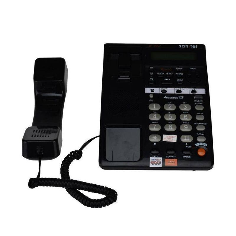 Sahitel S77B Black Single Line Telepon