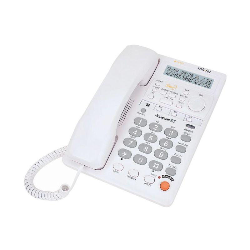 Sahitel S77W White Single Line Telepon