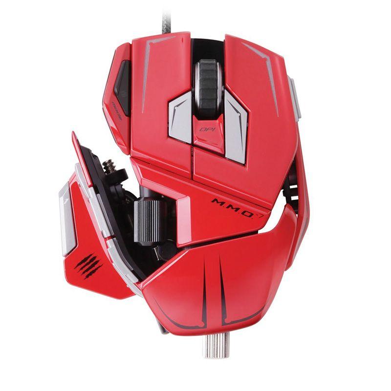 Madcatz M.M.O.7 Merah Gaming Mouse