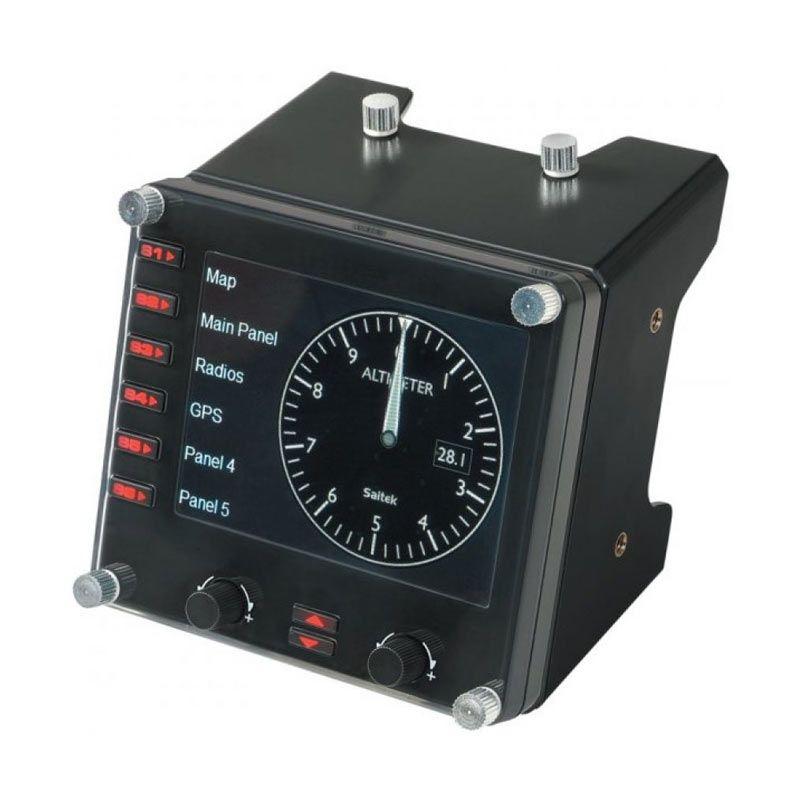 Saitek Pro Flight Hitam Instrument Panel Peralatan Gaming