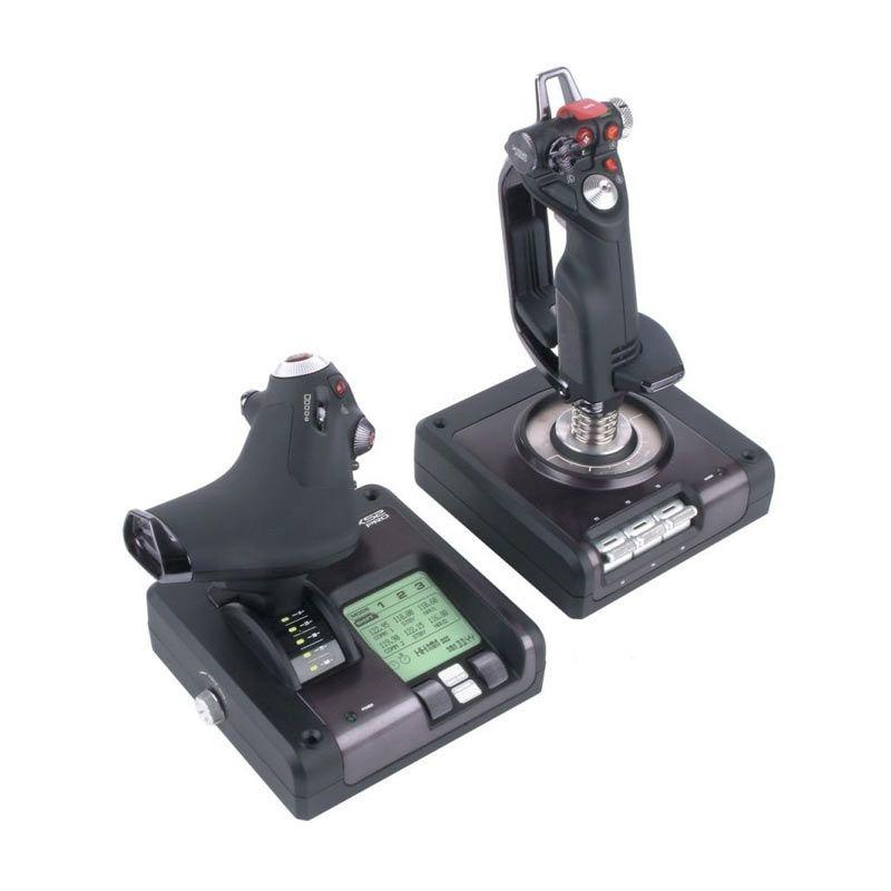 Saitek X52 Pro Flight Hitam Control System Peralatan Gaming