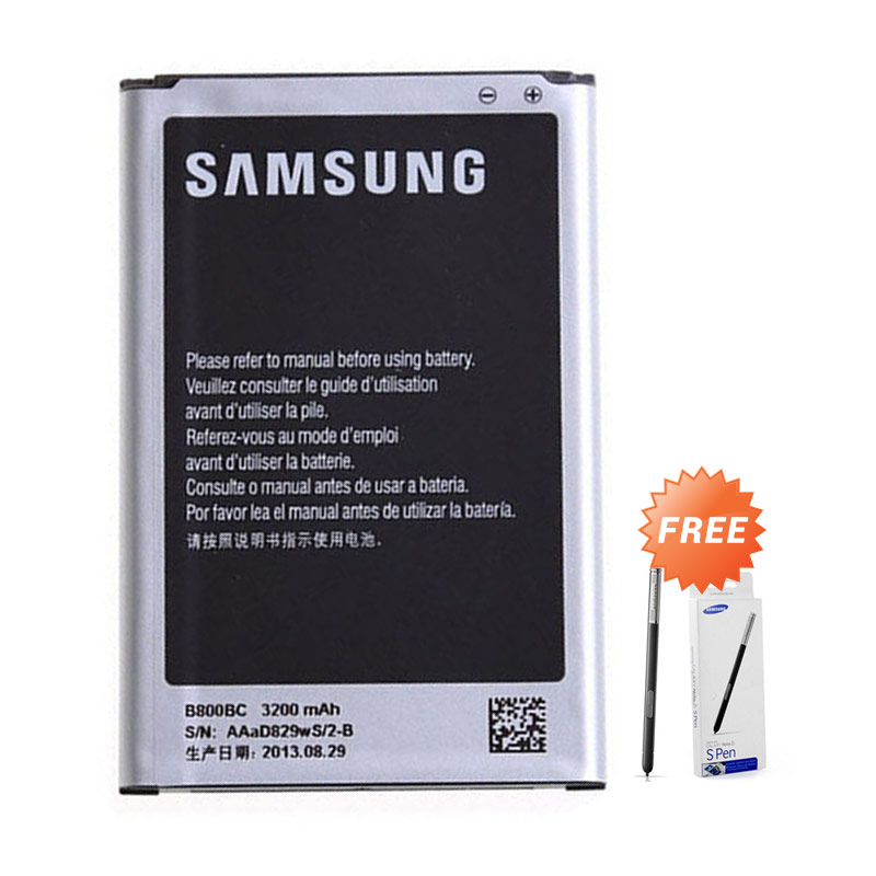 Samsung Battery for Galaxy Note 3 N9000 [3200 mAh] + Free Stylush for Galaxy Note 3