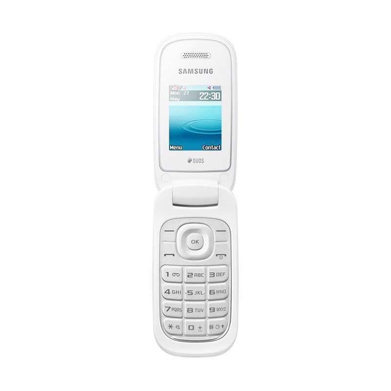 Samsung Caramel E1272 Handphone - Putih [Dual SIM]