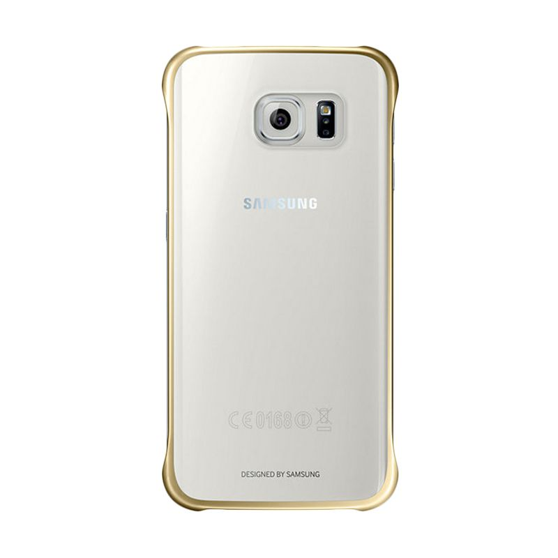 Samsung Clear Cover Gold Casing for Galaxy S6 Flat