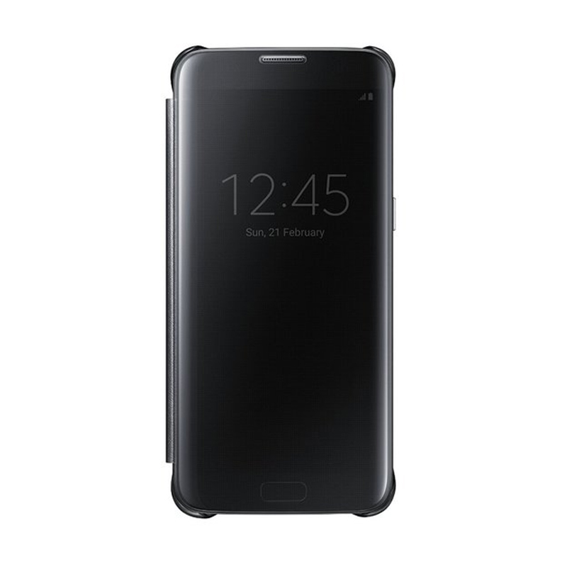 Samsung Clear View Window Flipcover Casing for Samsung S7 Edge - Black