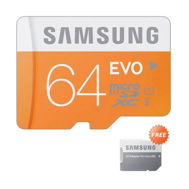 Samsung EVO Class 10 Micro SDXC Orange Memory Card [64 GB]