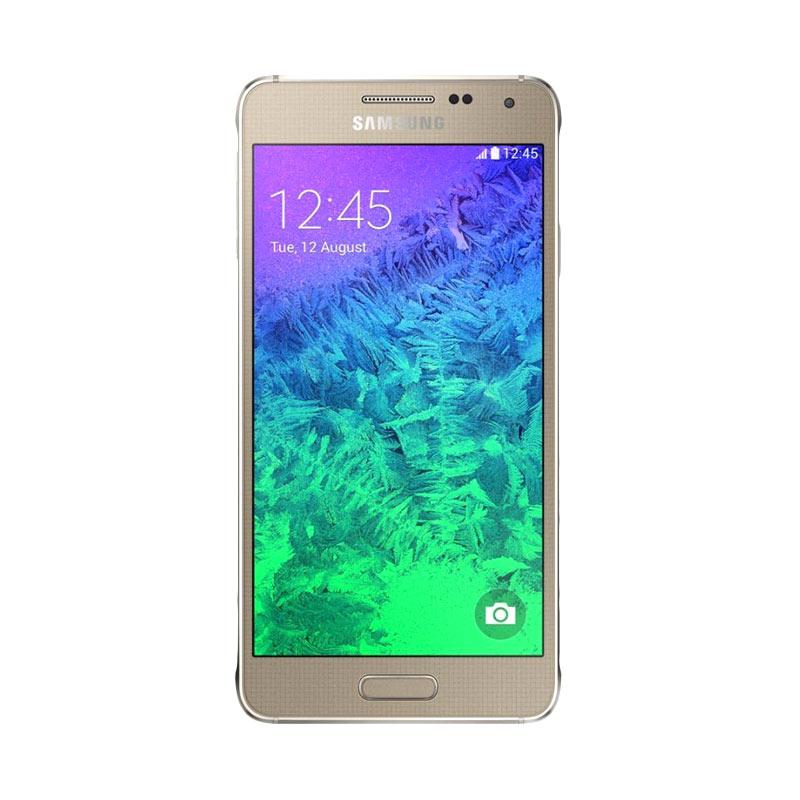 Samsung Galaxy Alpha G850 Smartphone - Gold [32GB/ 2GB]