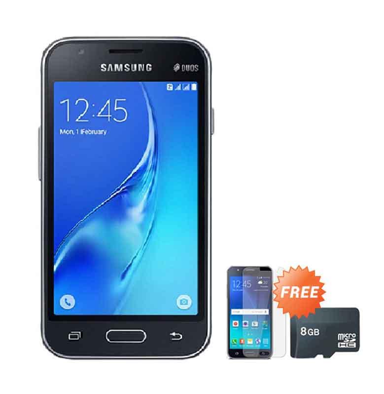 harga Samsung Galaxy J105 Mini Smartphone - Black [8 GB] + Free Anti Gores + Micro SD 8 GB Blibli.com
