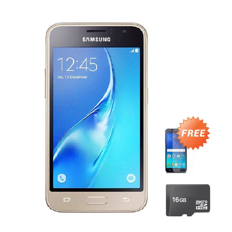 harga Samsung Galaxy J105 Mini Smartphone - Gold [8 GB] + Free Anti Gores + Micro SD 16 GB Blibli.com
