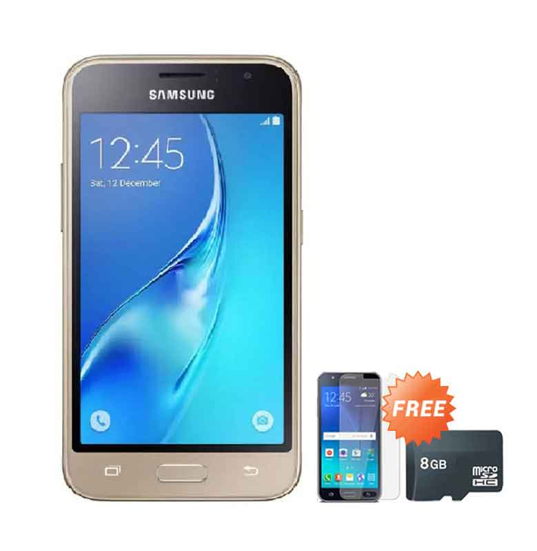 harga Samsung Galaxy J105 Mini Smartphone - Gold [8 GB] + Free Anti Gores + Micro SD 8 GB Blibli.com