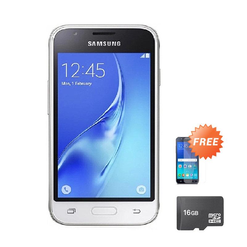 harga Samsung Galaxy J105 Mini Smartphone - White [8 GB] + Free Anti Gores + Micro SD 16 GB Blibli.com