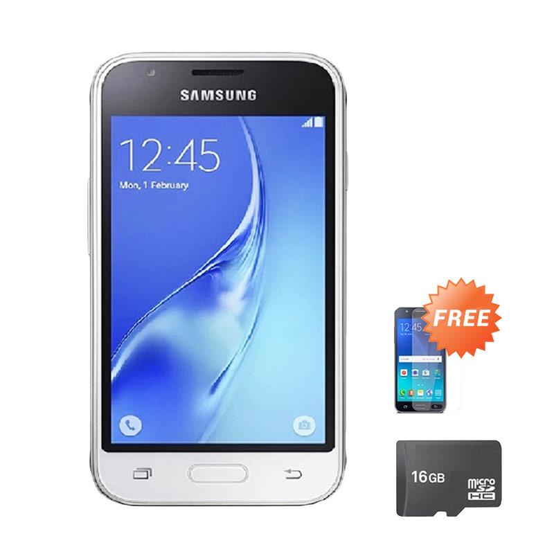harga Samsung Galaxy J105 Mini Smartphone - White [8 GB] + Free Anti Gores + Micro SD 8 GB Blibli.com