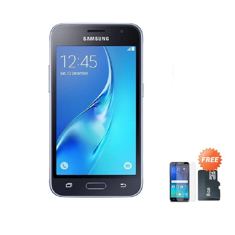 harga Samsung Galaxy J120 2016 Smartphone - Black [8 GB/1 GB] + Free Anti Gores Screen Protector + MicroSD Memory Card 8 GB Blibli.com