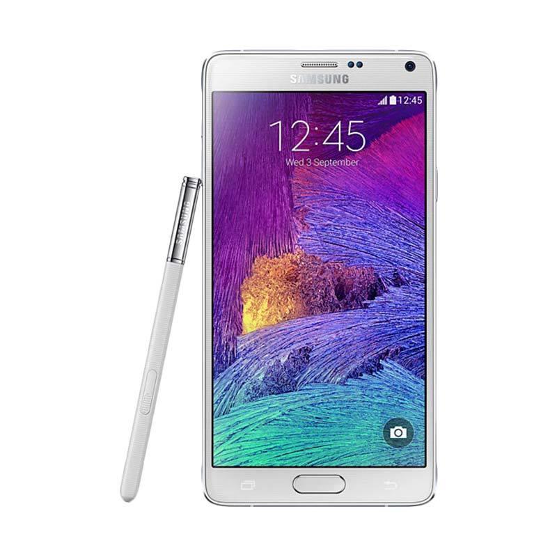 harga Samsung Galaxy Note 4 Smartphone - White [32GB/ 3GB] Blibli.com