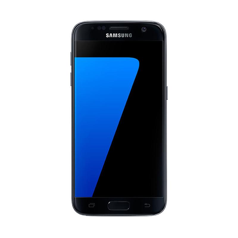 Samsung Galaxy S7 Flat Smartphone - Hitam