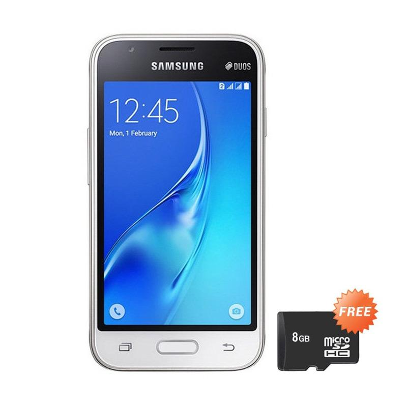 harga Samsung J1 Mini Duos (2016) - J105 Smartphone - White + Free Micro SD 8GB Blibli.com