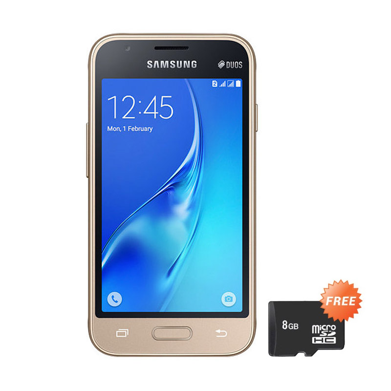 harga Samsung J1 Mini Duos 2016 J105 Smartphone - Gold + Free MicroSD 8 GB Blibli.com