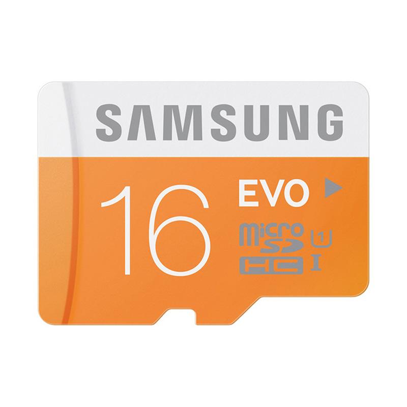 harga Samsung MicroSDHC EVO UHS-I Orange Memory Card with SD Adapter [16 GB] Blibli.com