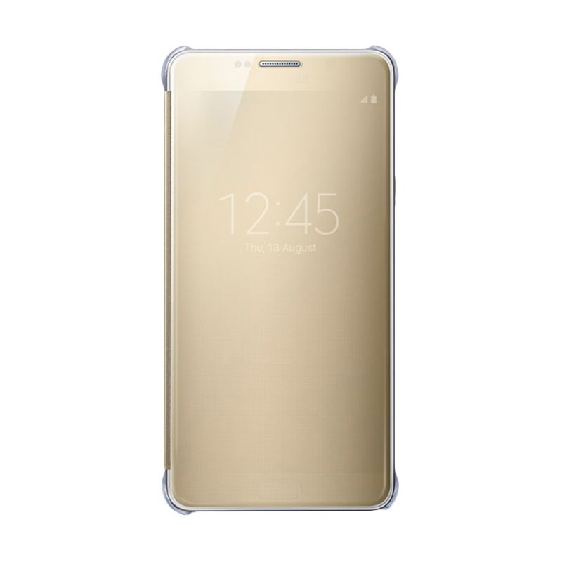 Samsung Noble Clear S-View Gold Flip Cover for Samsung Galaxy Note 5