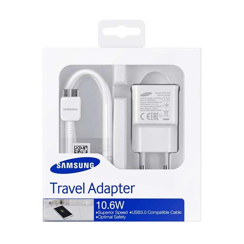 harga Samsung Original Charger for Samsung Galaxy Note 3 - Putih Blibli.com