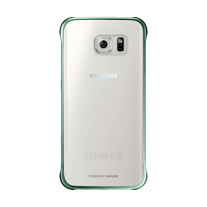 Samsung Original Clear Cover Green Casing for Samsung Galaxy S6 Edge
