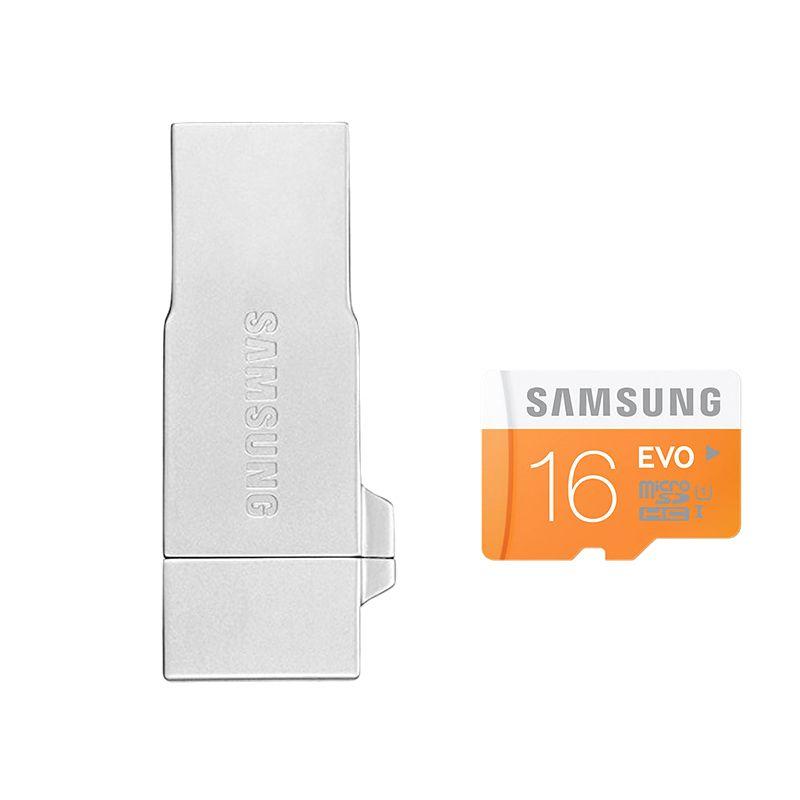 harga Samsung OTG Metal Silver Memory Card + Micro SDHC Evo [16 GB] Blibli.com