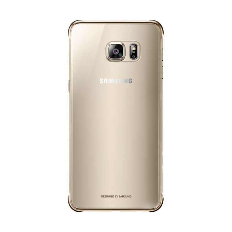 Samsung Original Protective Clear Cover Gold Casing for Galaxy S6 Edge Plus