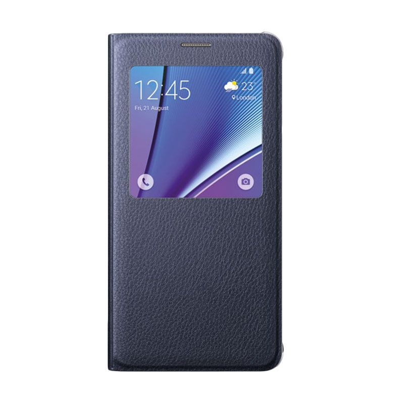 Samsung S View Flip Cover Black Casing for Samsung Galaxy Note 5