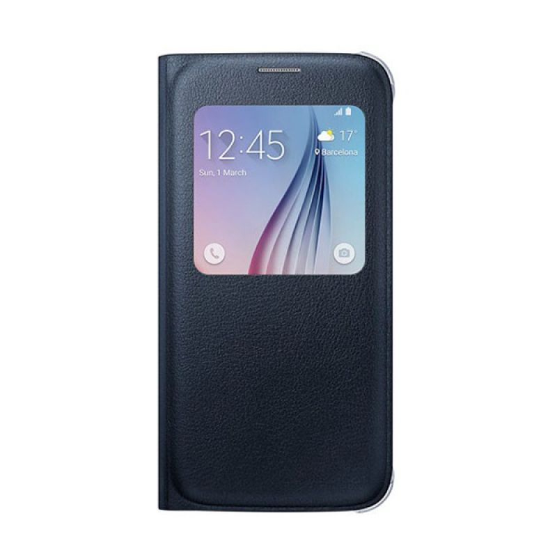 Samsung S View Flip Cover Black Casing for Samsung Galaxy S6 [Original]