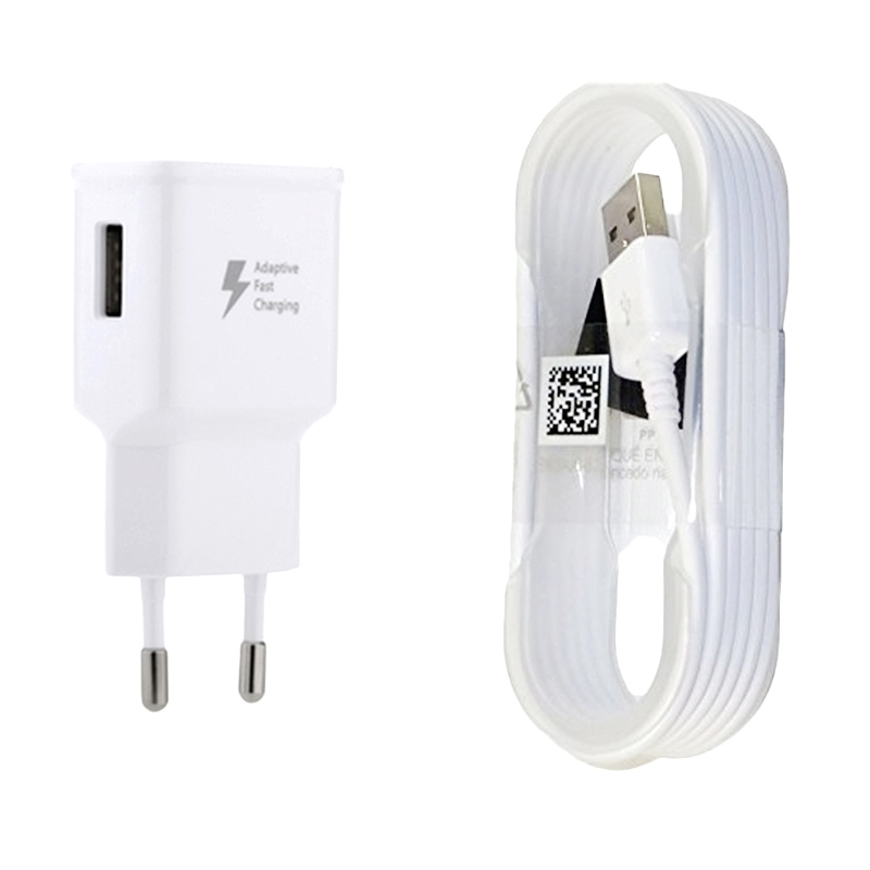 harga Samsung Travel Charger for Samsung Galaxy Note 4/Note 5/S6/S5 with USB Micro Cable [15 W/USB 3.0/Fast Charger] Free Hansfree Samsung Original Blibli.com