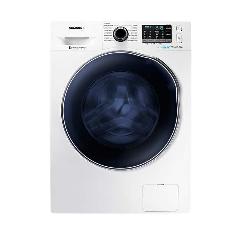 jual samsung wd75j5410aw se wd5000 crystal blue with dryer eco bubble front loading washing. Black Bedroom Furniture Sets. Home Design Ideas