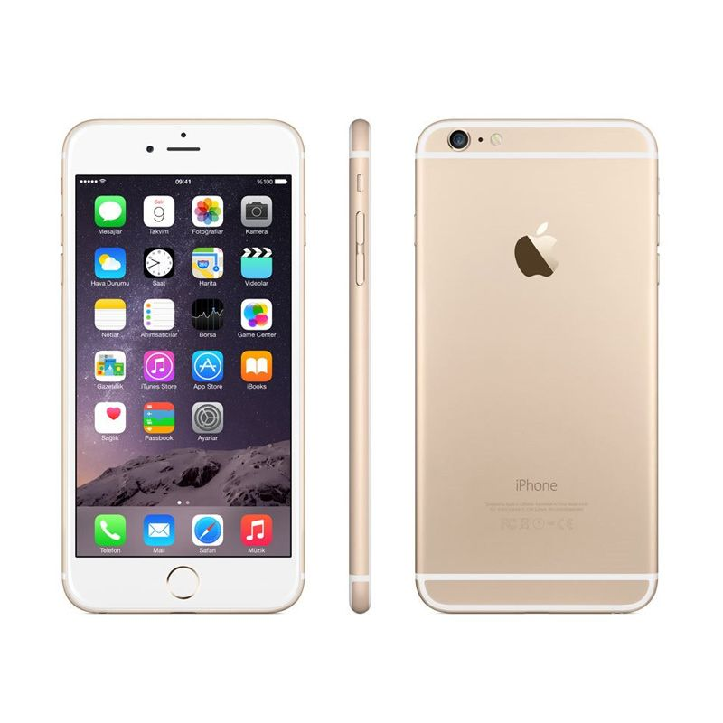 Apple iPhone 6 Plus 16 GB Gold Smartphone [Garansi Distributor]
