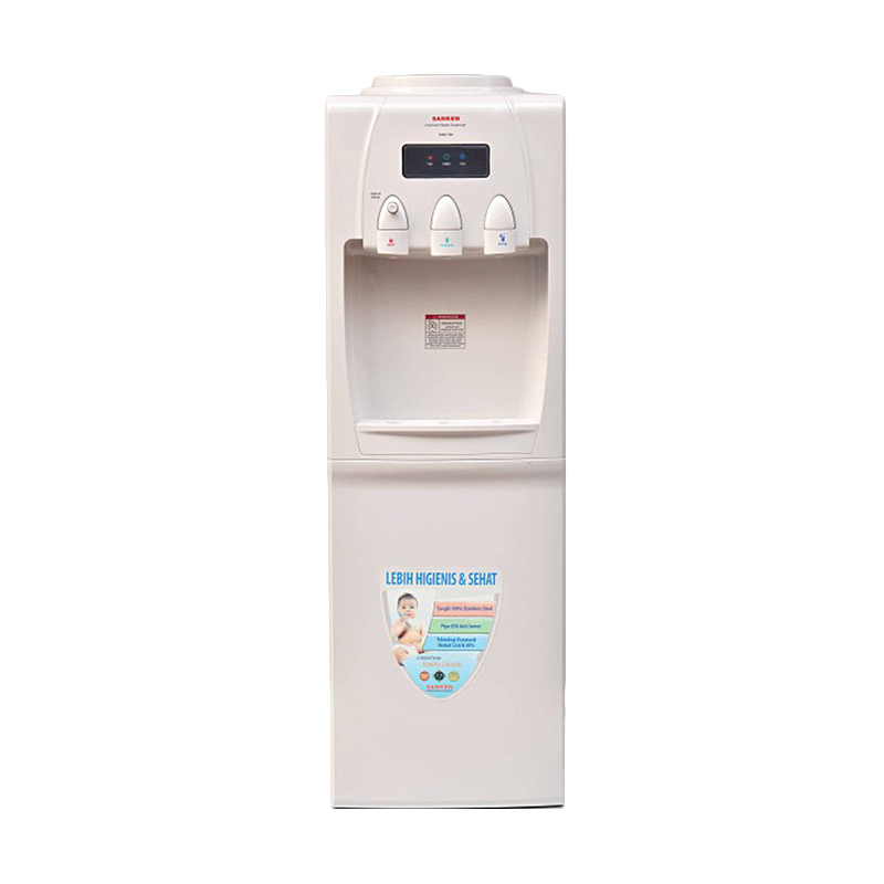 Sanken HWD730N Dispenser Galon Atas Kompressor [170 W] 3Kran (Hot,Normal,Cold)