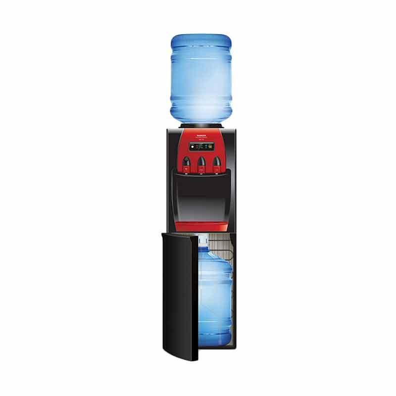 Sanken HWD-Z88 Water Dispenser - Hitam Merah [Galon Atas & Bawah/Jabodetabek]