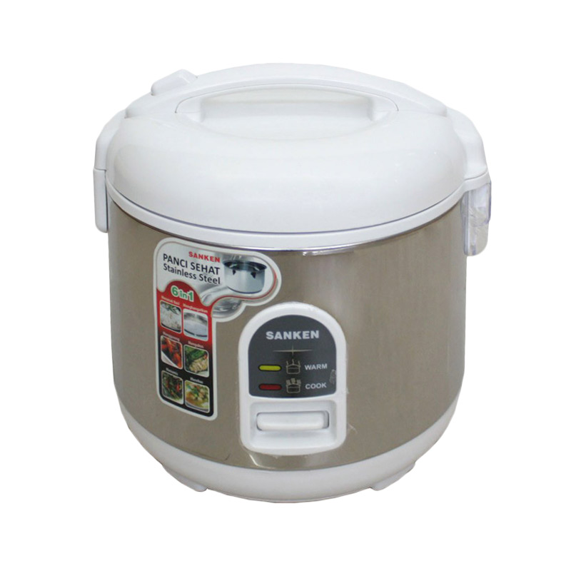 Sanken SJ-160 Stainless Steel Inner Pot  Rice Cooker - White [1.2 L]