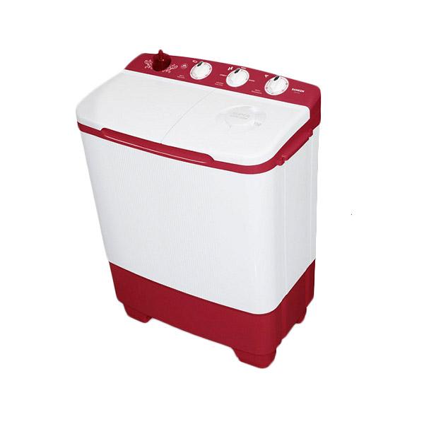 Sanken TW8650 MR Mesin Cuci 2 Tabung [7Kg/200W]Putih Merah